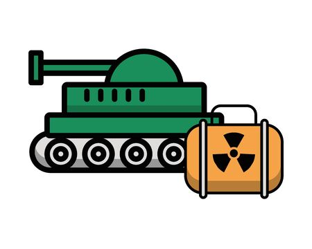 tank military force and nuclear vector illustration design