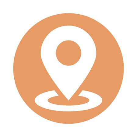 pin pointer location isolated icon vector illustration design