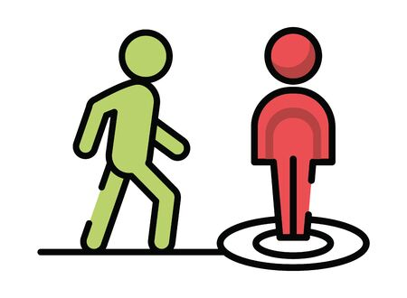 pedestrians silhouettes walkers isolated icon vector illustration design