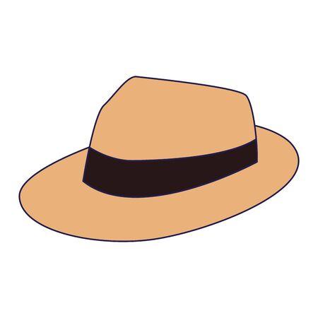 beach hat icon over white background, vector illustration Stock fotó - 140202762