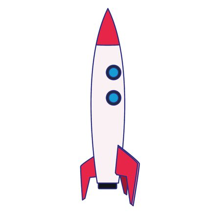 Rocket icon design, Spaceship aircraft start up shuttle technology and travel theme Vector illustration