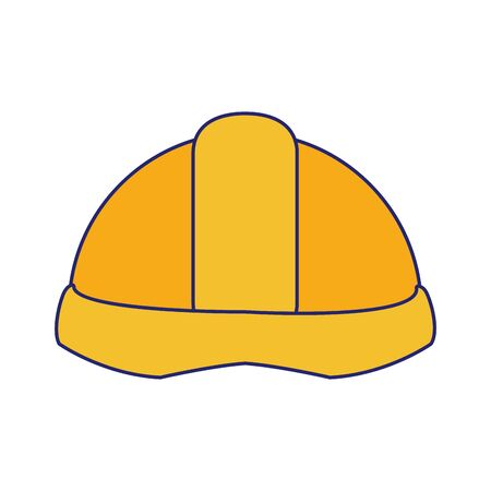 construction helmet icon over white background, vector illustration Ilustração