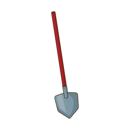shovel tool icon over white background, vector illustration