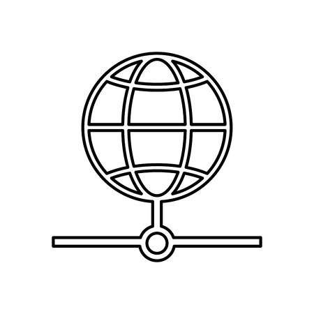 sphere browser globe isolated icon vector illustration design 일러스트