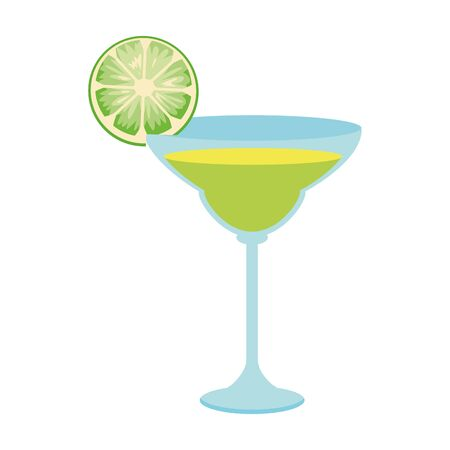 green martini cocktail icon over white background, vector illustration 일러스트