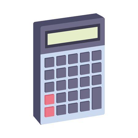 calculator device icon over white background, vector illustration Zdjęcie Seryjne - 140196556