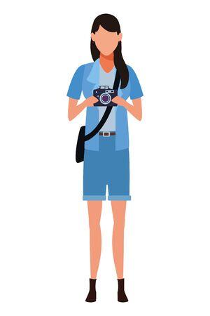 Photographer with camera profession avatar vector illustration graphic design Illustration