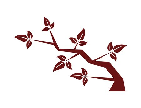 chinese tree branch natural icon vector illustration design