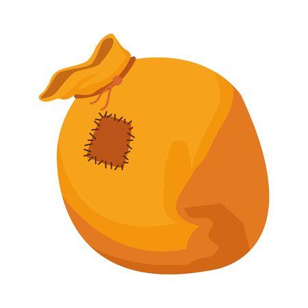 yellow bag icon over white background, vector illustration Zdjęcie Seryjne - 140200968