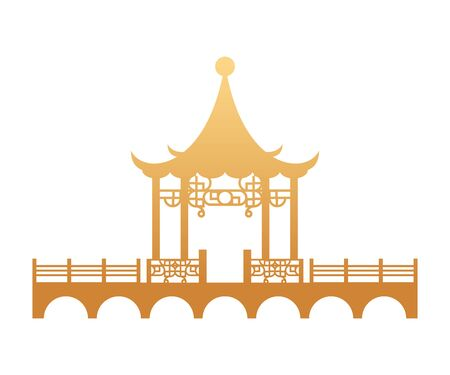 chinese culture construction isolated icon vector illustration design