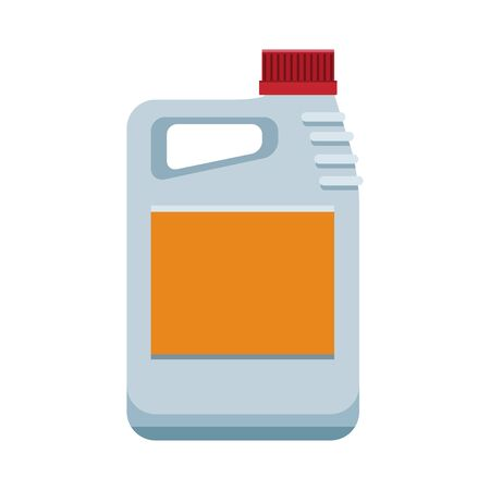 car oil bottle icon over white background, colorful design, vector illustration