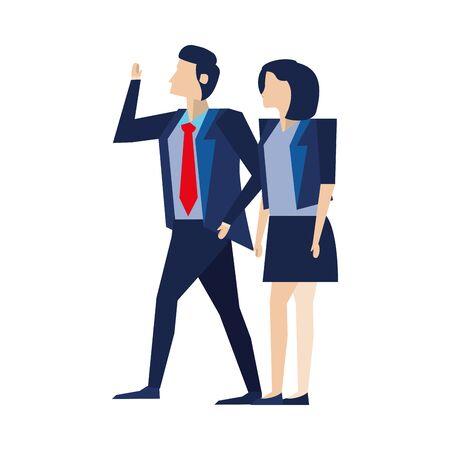 elegant business couple workers avatars characters vector illustration design Foto de archivo - 140205134