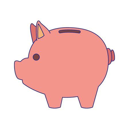 Piggy design, Money finance commerce market payment invest and buy theme Vector illustration Ilustracja