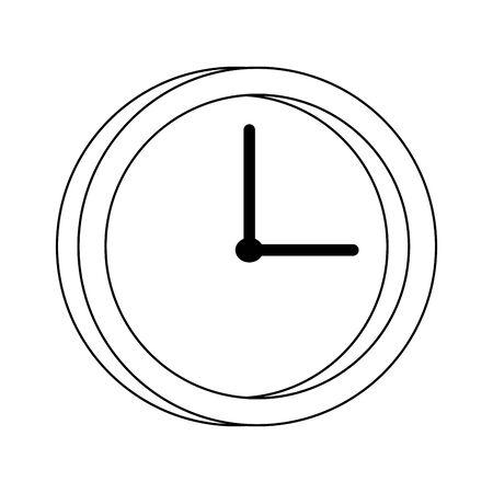 clock icon over white background, vector illustration