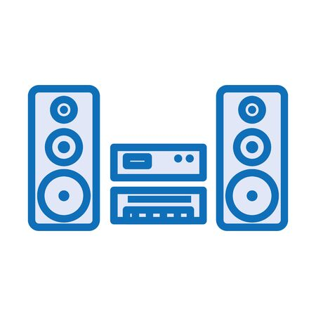 sound speakers audio with player vector illustration design