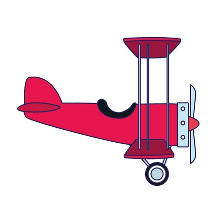 light aircraft icon over white background, vector illustration