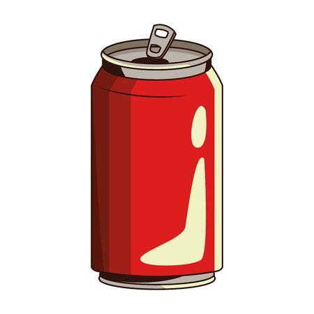 soda can icon over white background, vector illustration Ilustración de vector