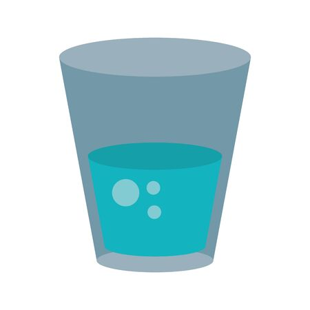 Water glass cup symbol vector illustration graphic design