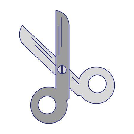scissors utensil symbol isolated vector illustration graphic design
