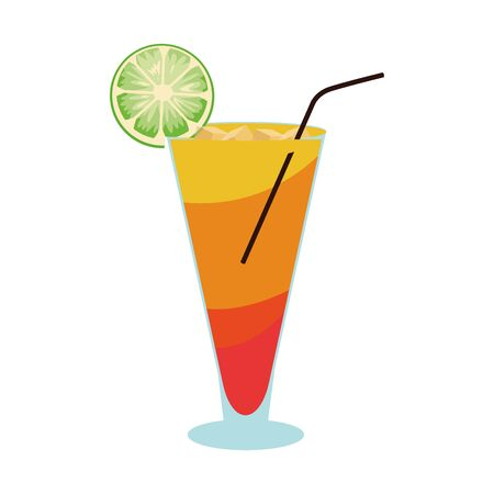 sunrise cocktail icon over white background, vector illustration
