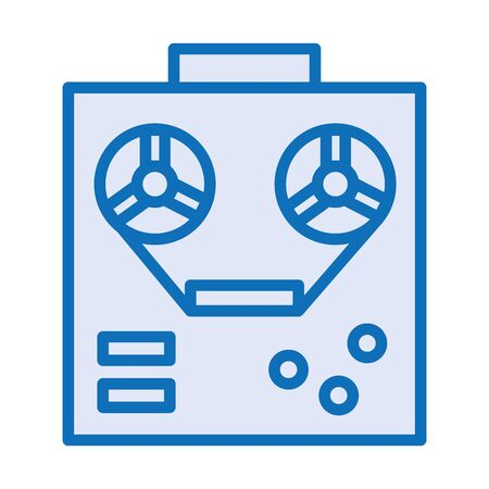 tape reel record machine isolated icon vector illustration design