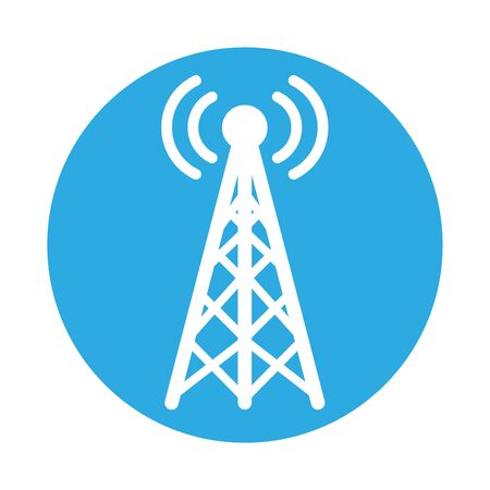 antena with wifi connection signal vector illustration design