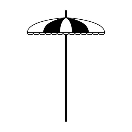 beach parasol icon over white background, vector illustration