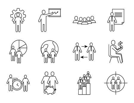 bundle of business success icons vector illustration design Stock Illustratie