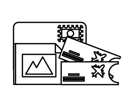 tickets flight documents isolated icon vector illustration design