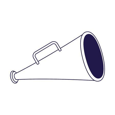 directors megaphone icon over white background, flat design, vector illustration Banque d'images - 140557852