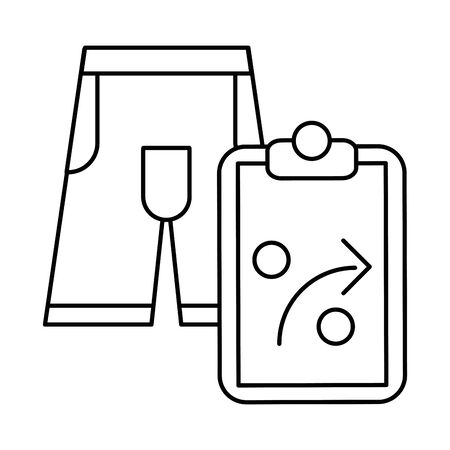 checklist clipboard with arrow with pants vector illustration design Ilustracja