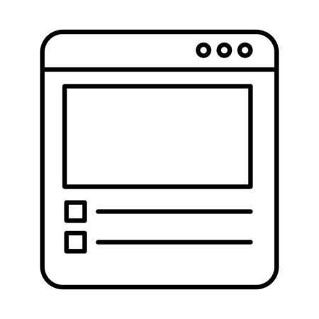 template webpage window isolated icon vector illustration design