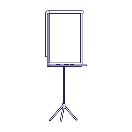 blank presentation board icon over white background, flat design, vector illustration