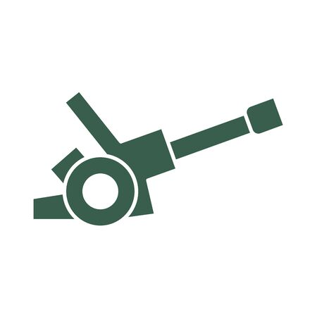 gun cannon military force isolated icon vector illustration design