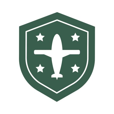shield military force isolated icon vector illustration design Illustration