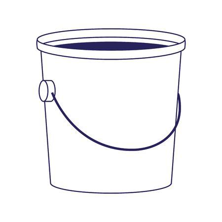 bucket of paint icon over white background, flat design, vector illustration Ilustrace