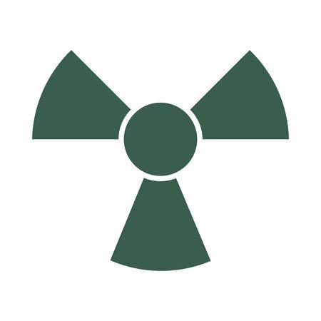 bio hazard symbol isolated icon vector illustration design