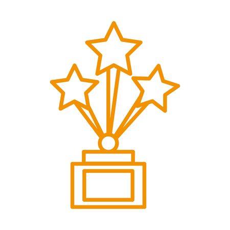 trophy award price with stars vector illustration design Çizim