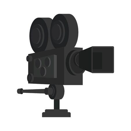 cinema camera icon over white background, colorful design, vector illustration