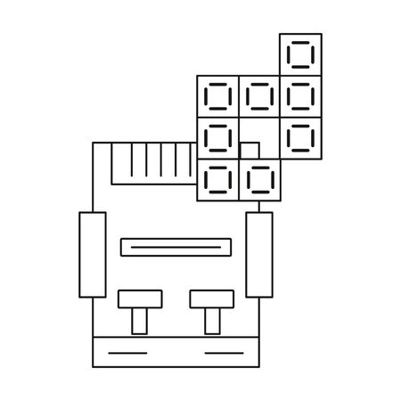 video game console device icon vector illustration design