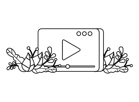 media player template with play button vector illustration design