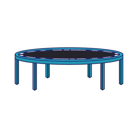 playground trampoline icon over white background, vector illustration