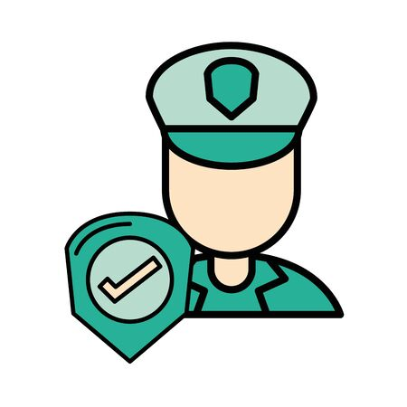 postman worker character isolated icon vector illustration design