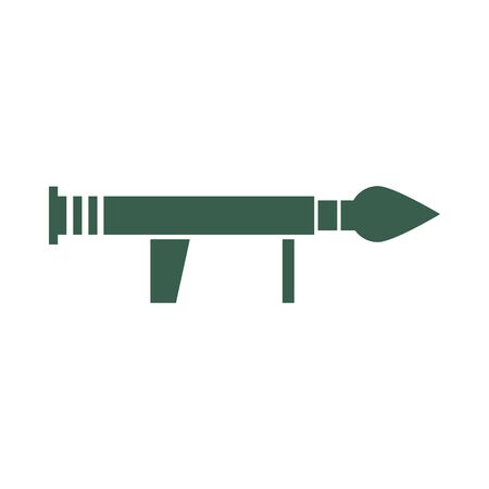 rocket launcher military force isolated icon vector illustration design