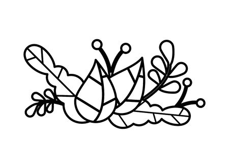 leaves  garden nature plants icon vector illustration design 向量圖像