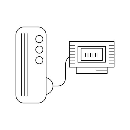 video game console device with cartridge vector illustration design