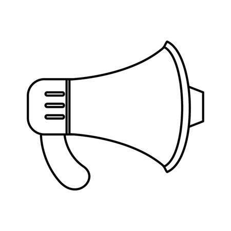 megaphone sound audio element icon vector illustration design