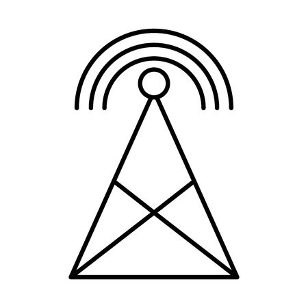 antena with wifi connection signal vector illustration design Reklamní fotografie - 140563230