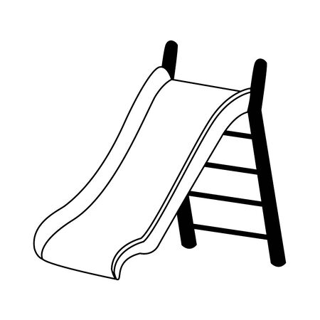 playground slide icon over white background, vector illustration