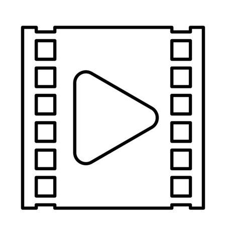 media player play button in film tape vector illustration design Vektoros illusztráció